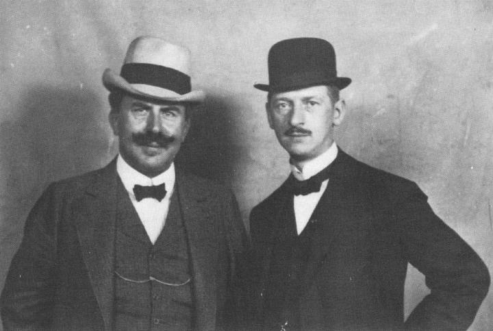 PW & Anton Hansen. 1911.jpg